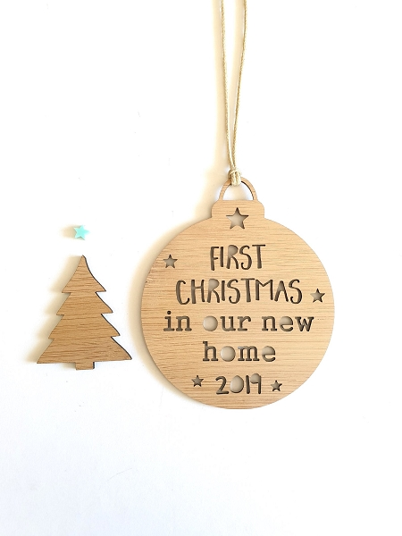 First Christmas in New Home Personalised Christmas Ornament